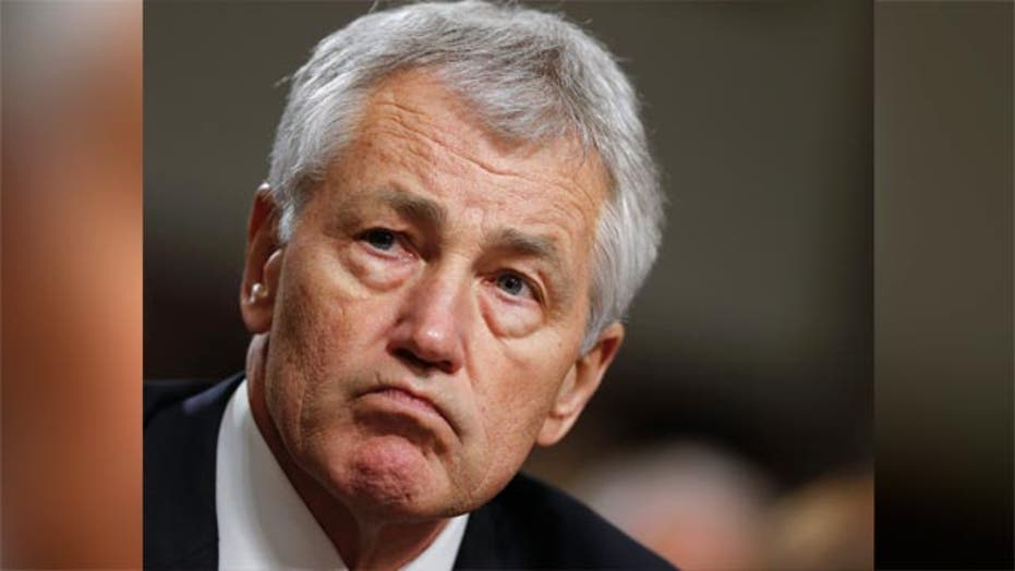 Hagel faces tough questions during confirmation hearing