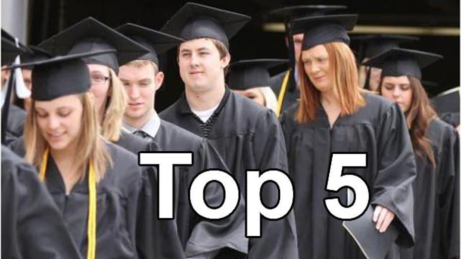 Top five best-value colleges