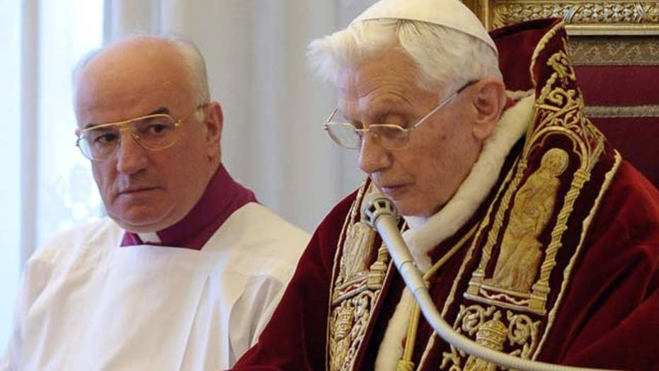 As Vatican leader Pope Benedict never had a chance