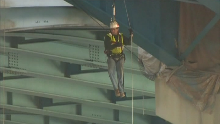 Workers Left Dangling In The Air After Scaffolding Crashed Down