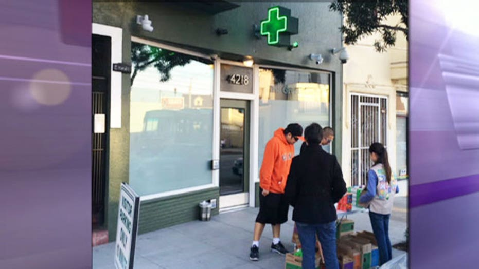 Girl Scout sells cookies outside California pot dispensary