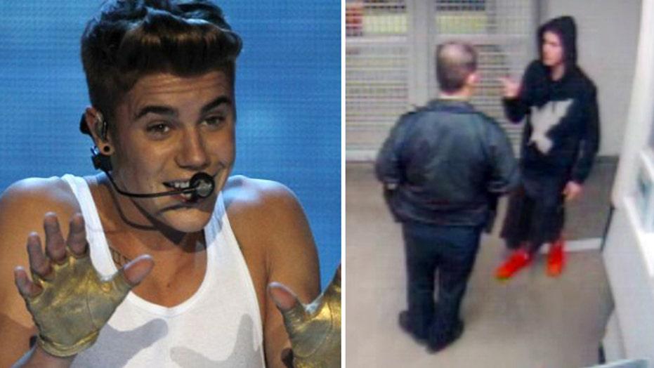 New video of Justin Bieber in jail after DUI arrest