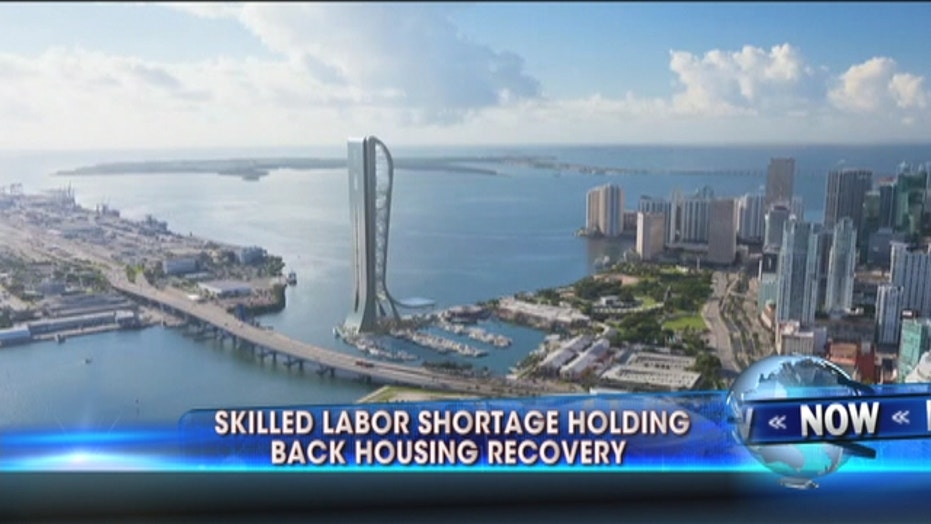 Skilled Labor Shortage Holding Back Housing Recovery