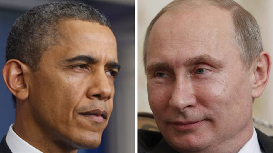 President Obama and Vladimir Putin speak