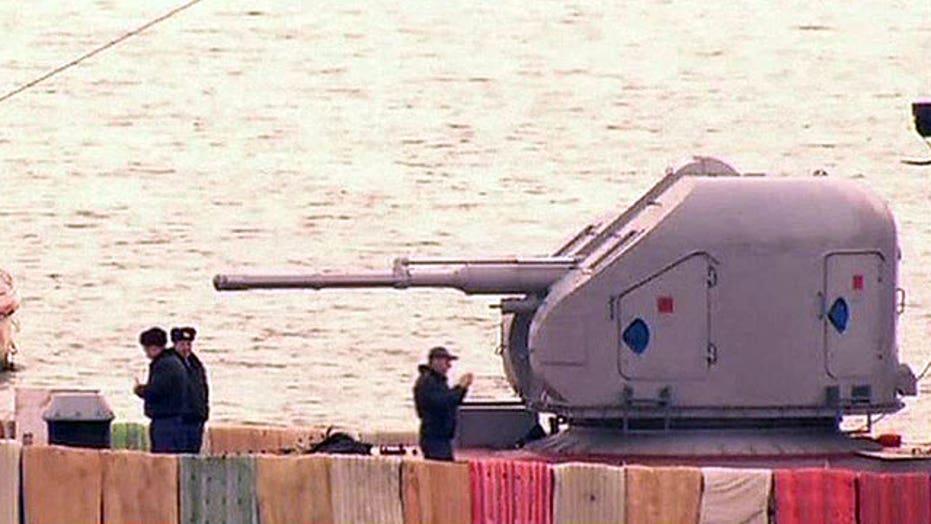 Russia sends warships into Black Sea near Ukraine peninsula