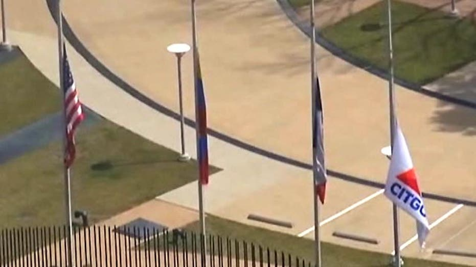 Citgo lowers American flag to mourn death of Hugo Chavez