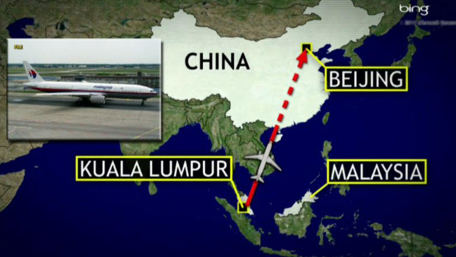 Malaysia Airlines flight to Beijing missing