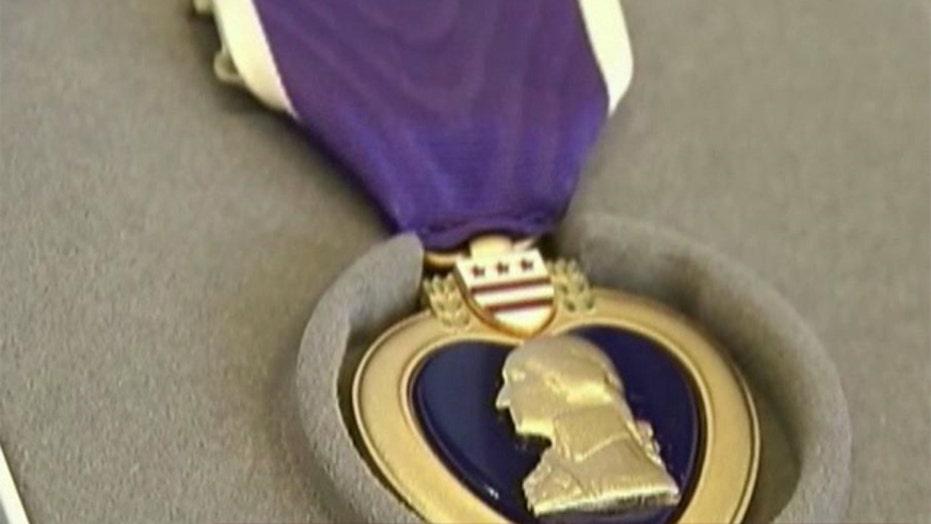 WWII vet awarded Purple Heart