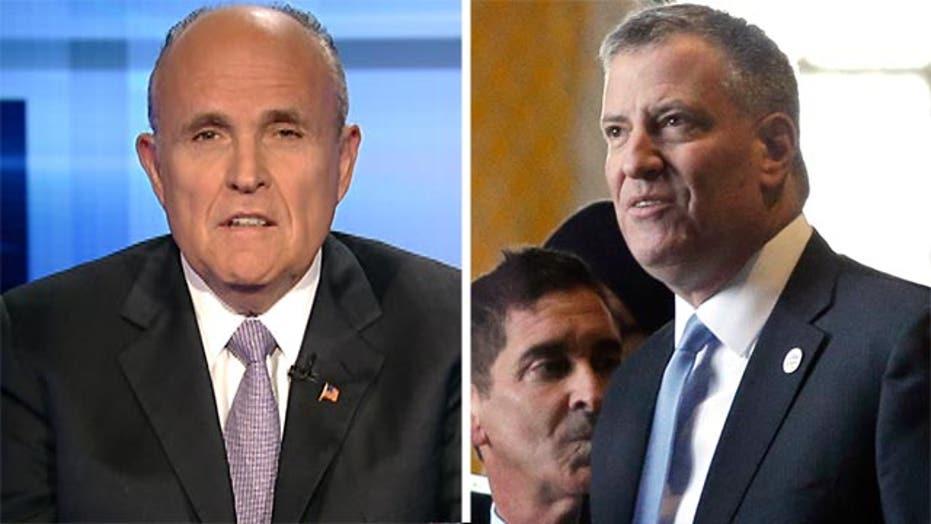 Giuliani on De Blasio's charter school woes