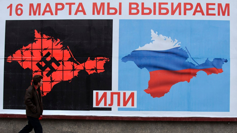Crimea referendum ballot gives one option?