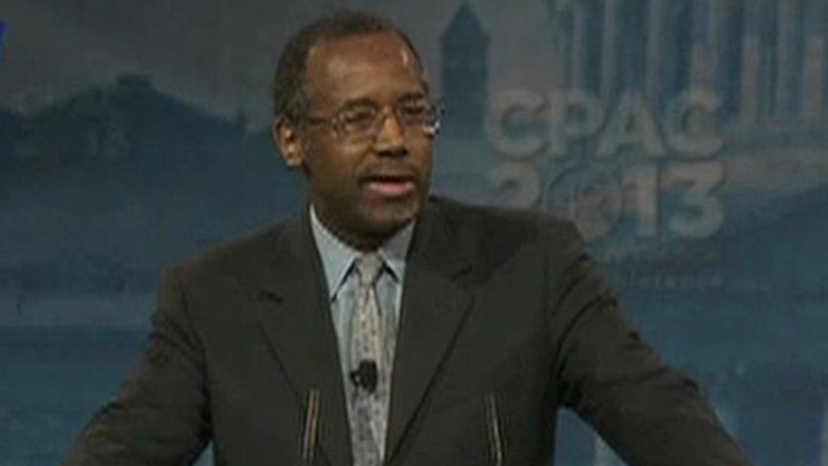 Dr. Carson Mentions White House in CPAC Speech
