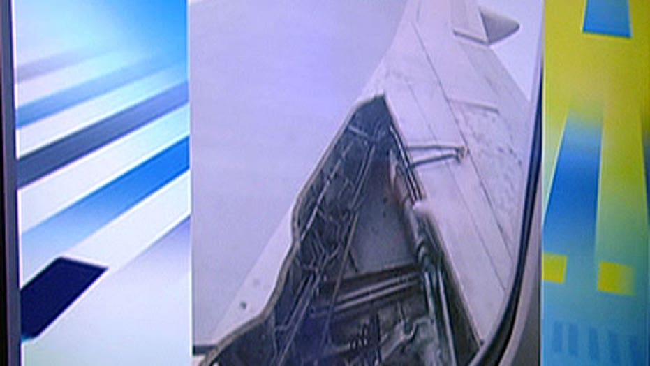 Delta plane loses part of wing midflight