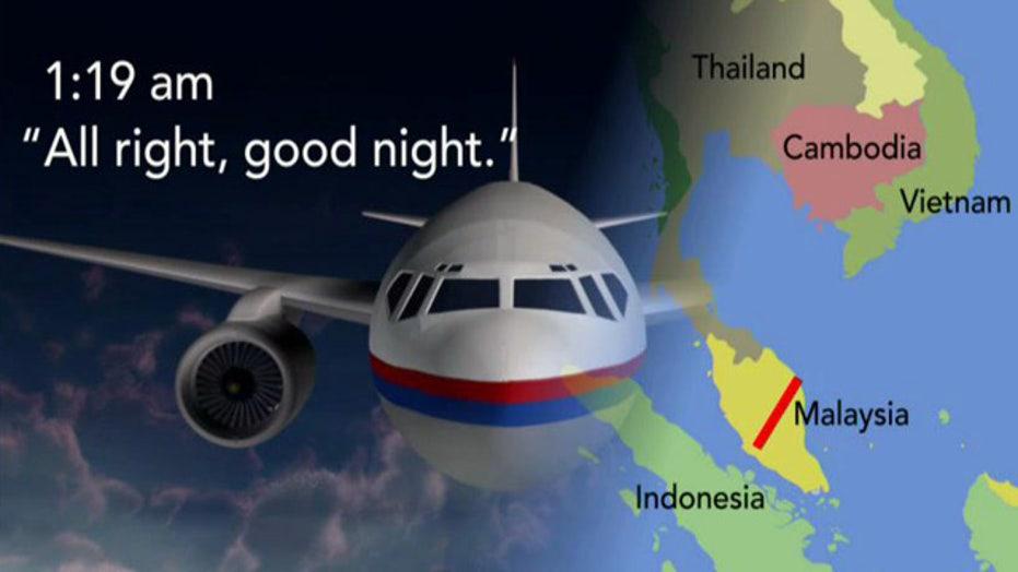 Flight 370 had already turned before 'good night' message