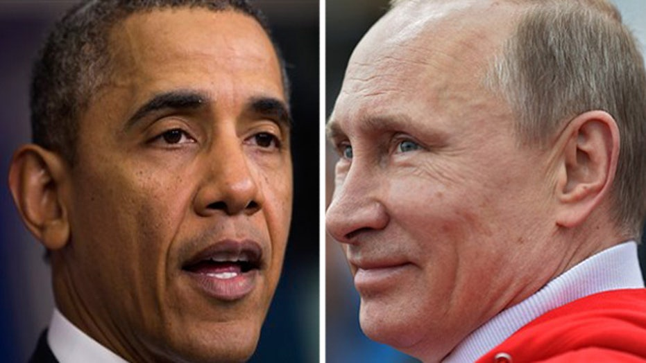 Obama picks NCAA bracket; Putin redraws Russia's borders