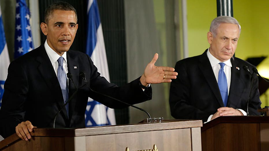 Obama addresses chemical weapons, Iran in Israel presser