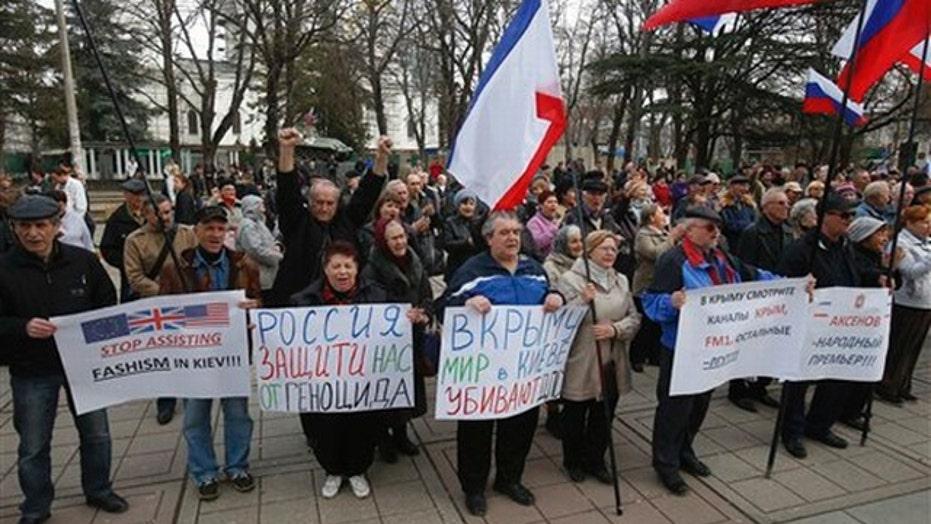 Ukraine showdown sparks social media war