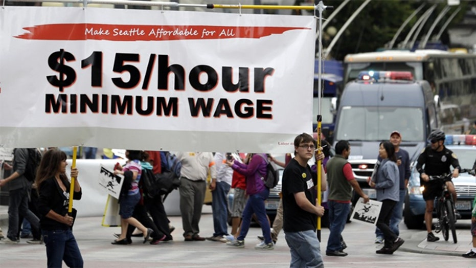 Unions driving new round of protests for $15 minimum wage