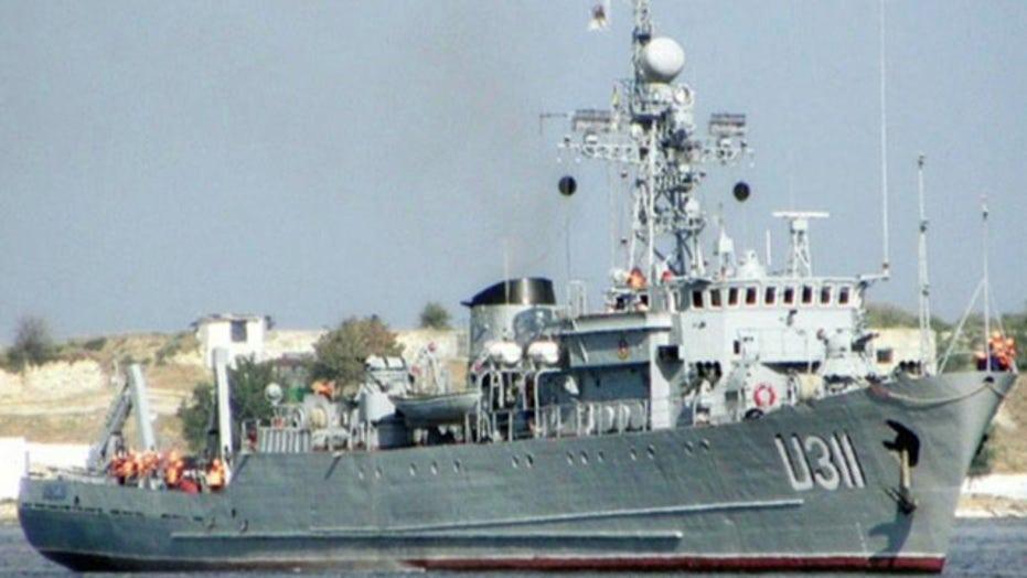 Russians storm Ukrainian navy ship along Crimean coast
