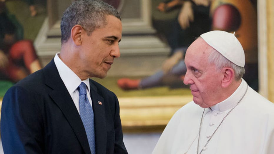 Is Obama using connection with Pope to help at home?