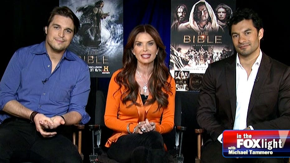 Michael Tamerro chats with the cast of 'The Bible'