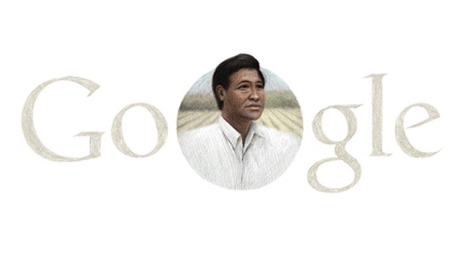 Google celebrates Cesar Chavez on Easter Sunday