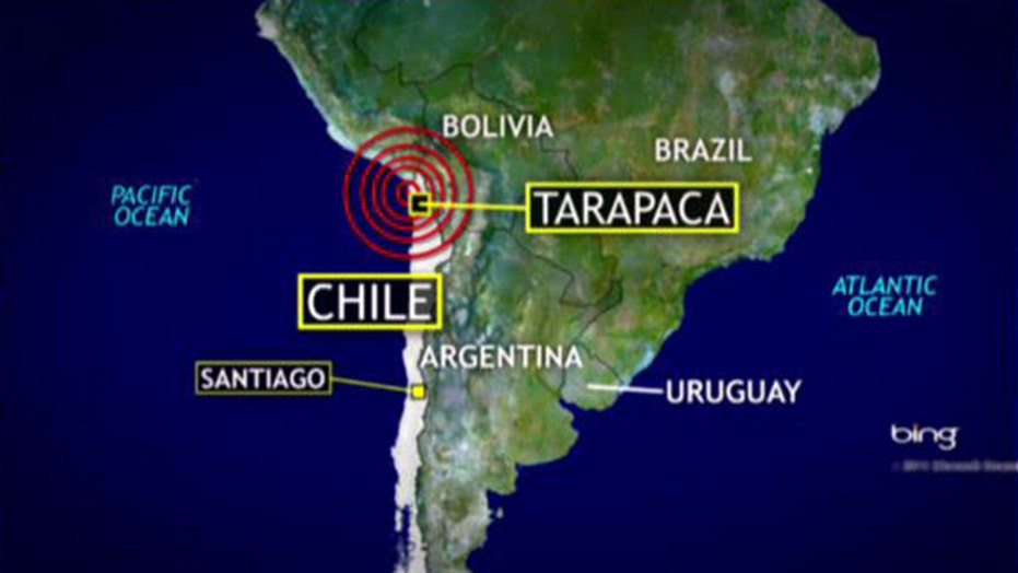 Tsunami warning after 8.2 quake off coast of Chile