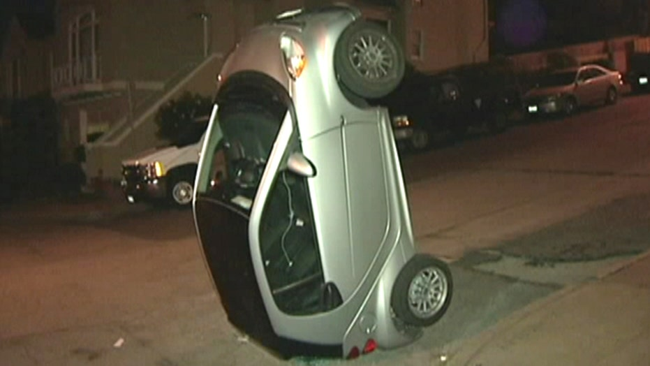 Car-tipping vandals target compact Smart cars