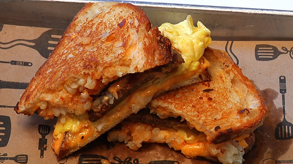 Melt Shop's Breakfast Grilled Cheese Sandwich