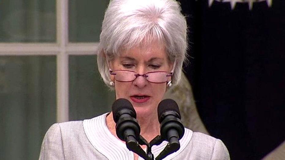 Kathleen Sebelius botches farewell speech