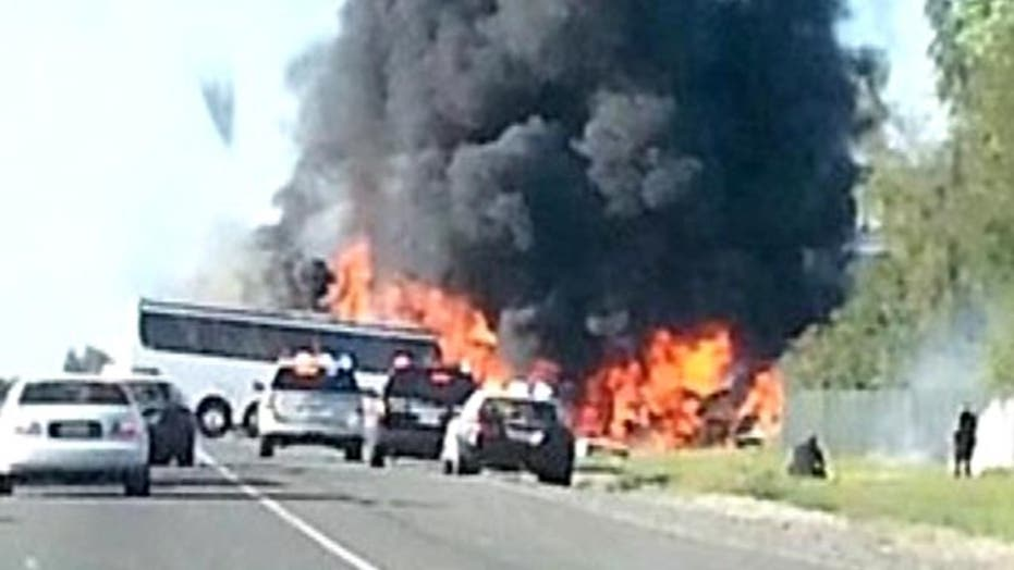 Investigators look into cause of deadly bus crash in Calif.