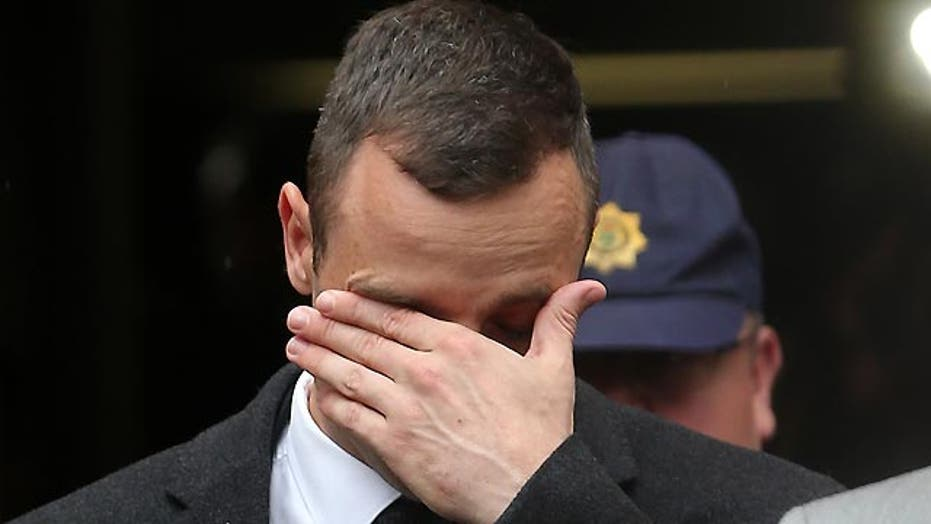 Is Oscar Pistorius putting on an act in court?