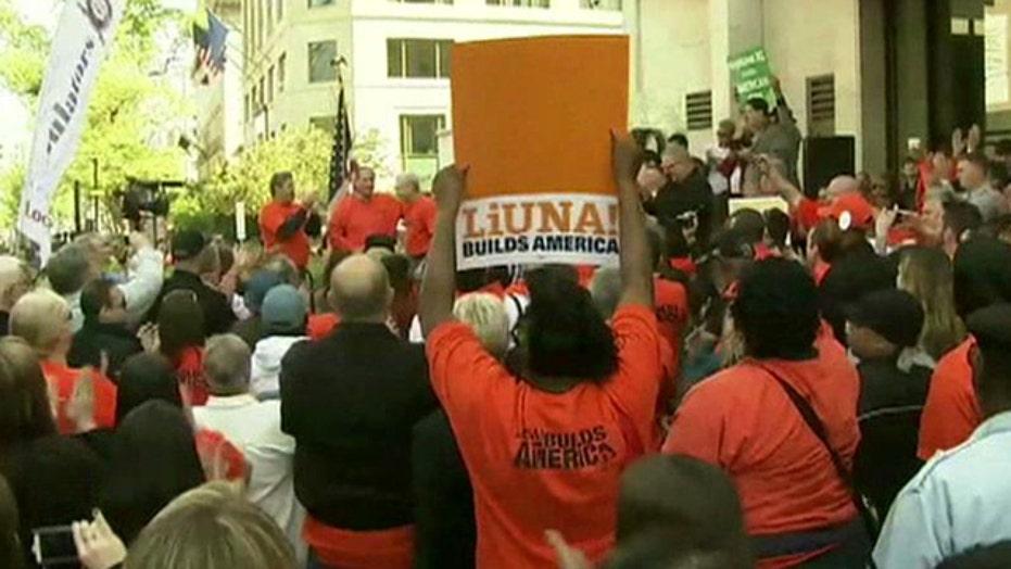 Union leaders push for Keystone pipeline