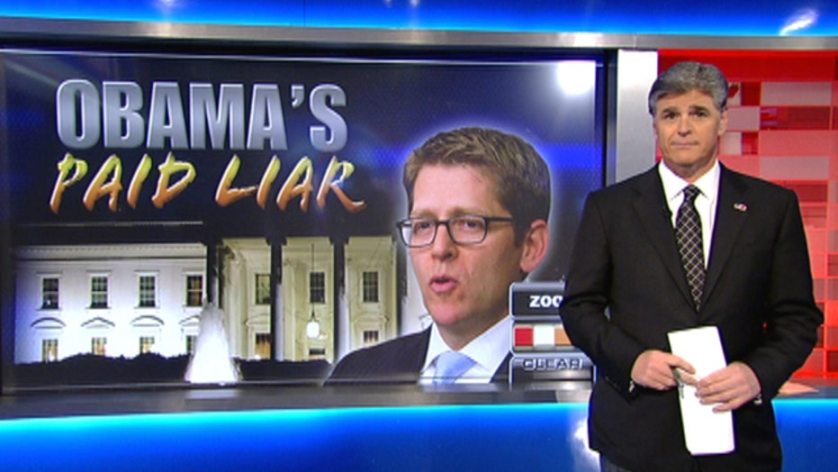 Sean Hannity blasts Jay Carney's 'bald-faced lie'