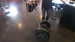 Fox Car Report's Gary Gastelu takes Google Glass for a spin on a Segway