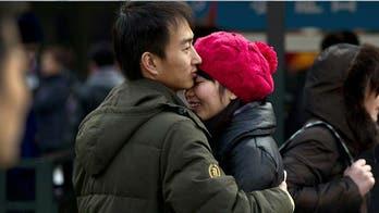 China finally embraces hugging