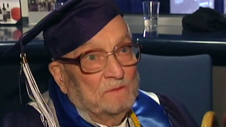 WWII veteran graduates college at 90