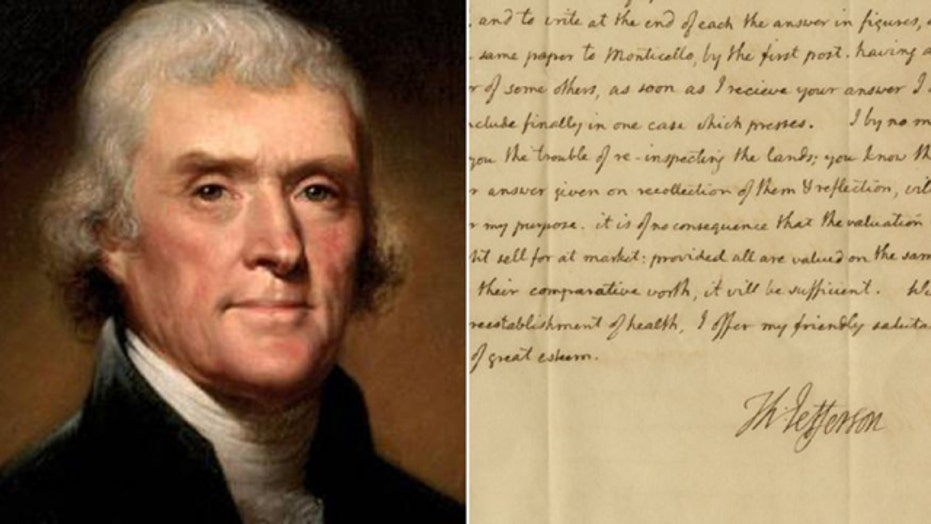 Newly discovered Jefferson letter hits the auction block