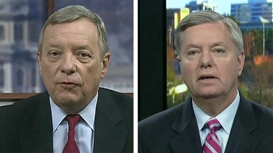 Sens. Graham, Durbin talk DOJ, IRS scandals
