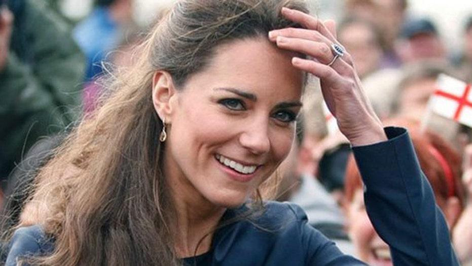 Princess Kate's behind exposed