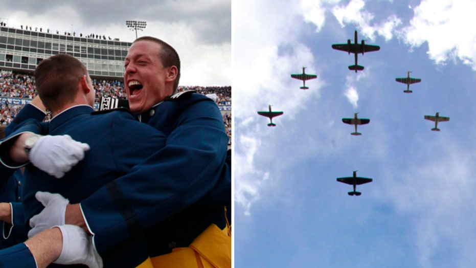 Air Force cadets celebrate graduation