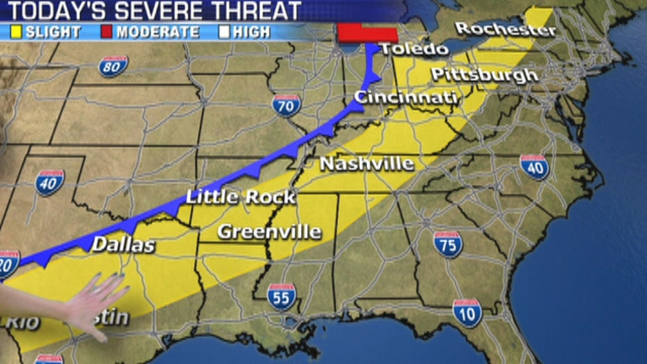 Severe storms threaten Heartland