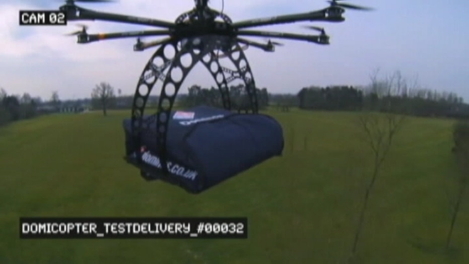 Domino's Pizza Delivery By Helicopter Drone?
