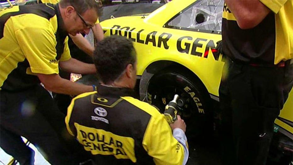 Matt Kenseth shows 'Fox & Friends' how to change a tire
