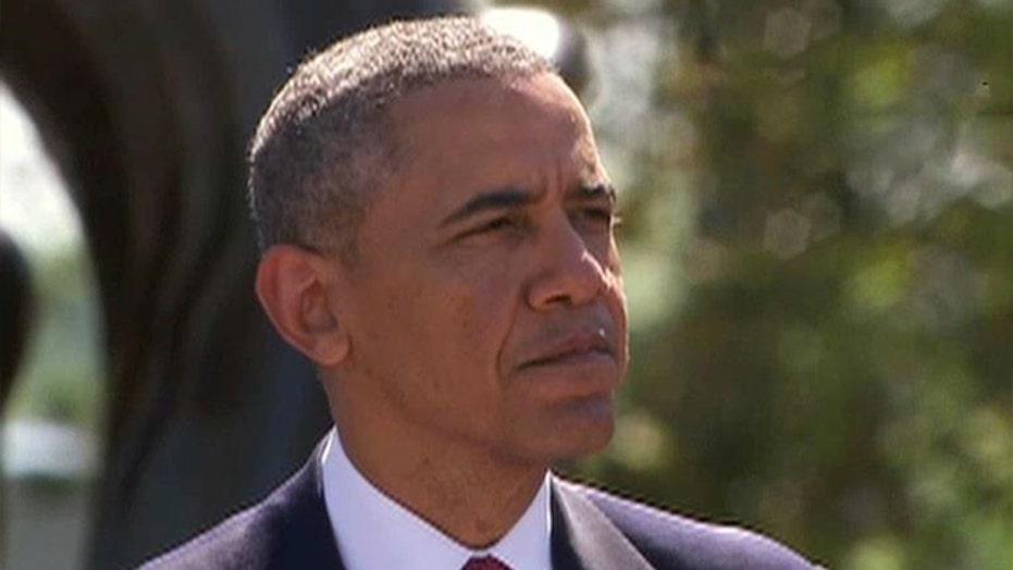 President Obama speaks at D-Day memorial service