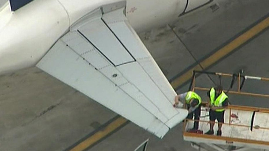 Plane damaged after collision at Logan Airport