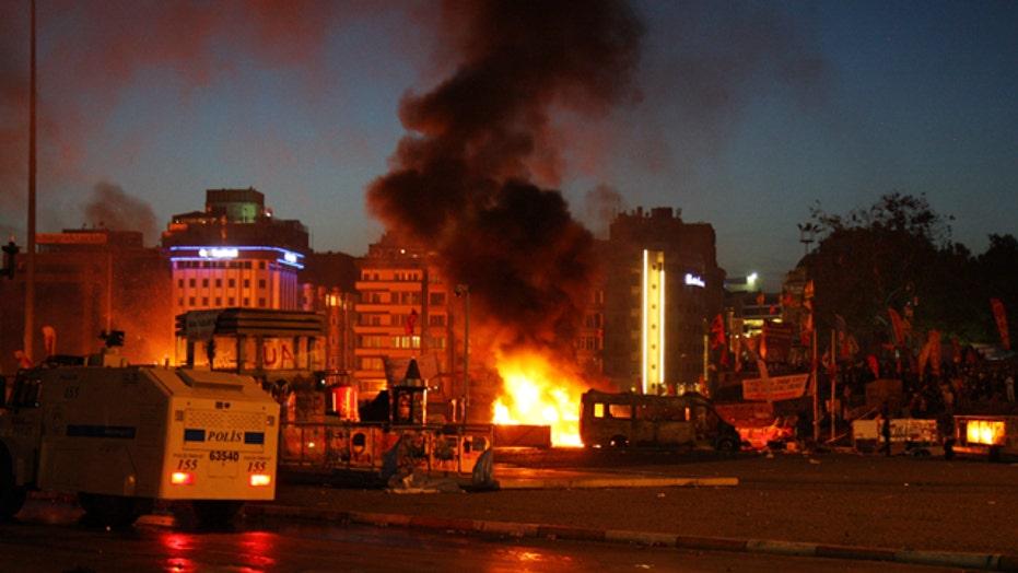 Violent protests escalating in Turkey