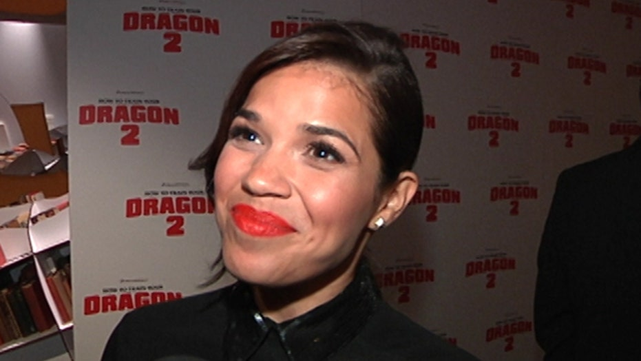 In the FOXlight: Kit Harington and America Ferrera at the 'How to Train Your Dragon 2' Premiere