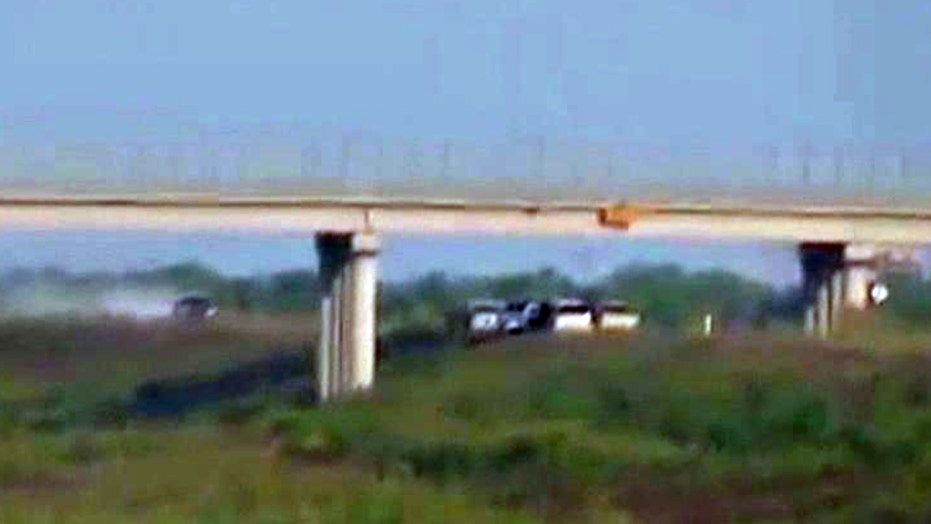Exclusive video of drug cartels crossing southern border