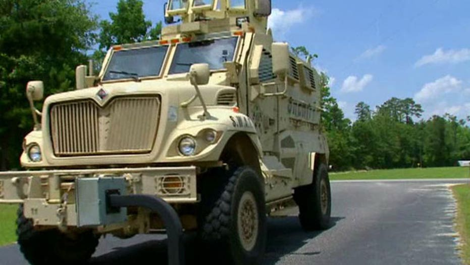 Pentagon giving surplus trucks to local police