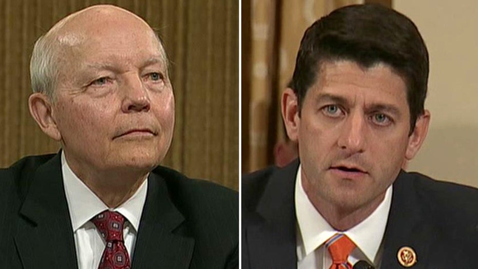 Ryan lashes out at IRS commissioner: 'Nobody believes you'